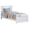 Mission Traditional Bed with Matching Footboard - White - AR87X6032