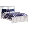 Mission Traditional Bed with Matching Footboard - White Mission Traditional Bed with Matching Footboard - White