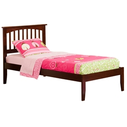 Mission Traditional Bed with Open Footrails - Antique Walnut Mission Traditional Bed with Open Footrails - Antique Walnut