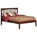 Mission Traditional Bed with Open Footrails - Antique Walnut - AR87X1034