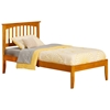 Mission Traditional Bed with Open Footrails - Caramel Latte Mission Traditional Bed with Open Footrails - Caramel Latte