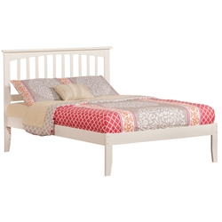 Mission Traditional Bed with Open Footrails - White Mission Traditional Bed with Open Footrails - White