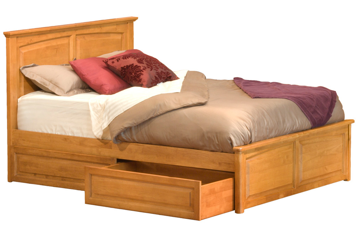 Monterey Platform Bed - Raised Panel Footboard