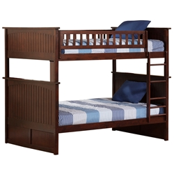 Nantucket Full/Full Bunk Bed - Antique Walnut AB59504 Nantucket Full/Full Bunk Bed - Antique Walnut AB59504