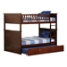 Nantucket Full/Full Bunk Bed - Antique Walnut AB59504 - AB59504
