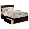 Nantucket Platform Bed with Flat Panel Footboard - Espresso Nantucket Platform Bed with Flat Panel Footboard - Espresso
