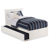 Nantucket Platform Bed with Flat Panel Footboard - White Nantucket Platform Bed with Flat Panel Footboard - White