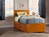 Nantucket Platform Bed with Matching Footboard - Caramel Latte - AR82X6X17