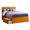 Nantucket Platform Bed with Matching Footboard - Caramel Latte Nantucket Platform Bed with Matching Footboard - Caramel Latte