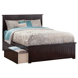 Nantucket Platform Bed with Matching Footboard - Espresso Nantucket Platform Bed with Matching Footboard - Espresso