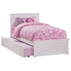Nantucket Platform Bed with Matching Footboard - White Nantucket Platform Bed with Matching Footboard - White