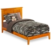 Nantucket Platform Bed with Open Footrails - Caramel Latte Nantucket Platform Bed with Open Footrails - Caramel Latte