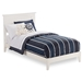 Nantucket Platform Bed with Open Footrails - White - AR82X1002