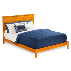 Nantucket Traditional Bed with Open Footrails - Caramel Latte Nantucket Traditional Bed with Open Footrails - Caramel Latte