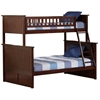 Nantucket Twin/Full Bunk Bed - Antique Walnut AB59204 Nantucket Twin/Full Bunk Bed - Antique Walnut AB59204