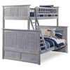 Nantucket Twin/Full Bunk Bed - Driftwood Grey AB59208 Nantucket Twin/Full Bunk Bed - Driftwood Grey AB59208