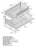 Nantucket Twin/Full Bunk Bed - Driftwood Grey AB59208 - AB592X80