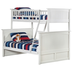 Nantucket Twin/Full Bunk Bed - White AB59202 Nantucket Twin/Full Bunk Bed - White AB59202