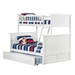 Nantucket Twin/Full Bunk Bed - White AB59202 - AB59202