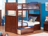 Nantucket Twin/Twin Bunk Bed - Antique Walnut AB59104 - AB591X40