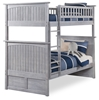 Nantucket Twin/Twin Bunk Bed - Driftwood Grey AB59108 Nantucket Twin/Twin Bunk Bed - Driftwood Grey AB59108