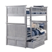 Nantucket Twin/Twin Bunk Bed - Driftwood Grey AB59108 - AB59108