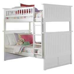 Nantucket Twin/Twin Bunk Bed - White AB59102 Nantucket Twin/Twin Bunk Bed - White AB59102