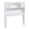 Newport Bookcase Headboard - White Newport Bookcase Headboard - White