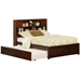 Newport Platform Bed with Flat Panel Footboard - Antique Walnut - AR85X2X14