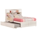 Newport Platform Bed with Flat Panel Footboard - White - AR85X2X12