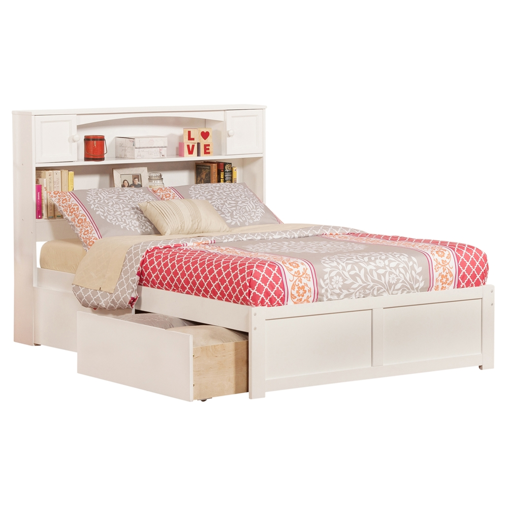 Newport Platform Bed With Flat Panel Footboard White