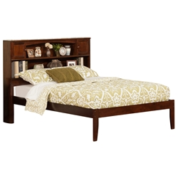 Newport Platform Bed with Open Footrails - Antique Walnut Newport Platform Bed with Open Footrails - Antique Walnut