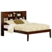 Newport Platform Bed with Open Footrails - Antique Walnut - AR85X1004