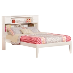 Newport Platform Bed with Open Footrails - White Newport Platform Bed with Open Footrails - White