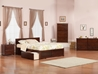 Orlando Platform Bed with Flat Panel Footboard - Antique Walnut - AR81X2X14