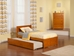 Orlando Platform Bed with Flat Panel Footboard - Caramel Latte - AR81X2X17
