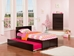 Orlando Platform Bed with Flat Panel Footboard - Espresso - AR81X2X11
