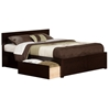 Orlando Platform Bed with Flat Panel Footboard - Espresso Orlando Platform Bed with Flat Panel Footboard - Espresso
