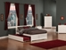 Orlando Platform Bed with Flat Panel Footboard - White - AR81X2X12