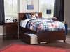 Orlando Platform Bed with Matching Footboard - Antique Walnut - AR81X6X14