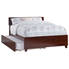 Orlando Platform Bed with Matching Footboard - Antique Walnut Orlando Platform Bed with Matching Footboard - Antique Walnut