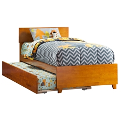 Orlando Platform Bed with Matching Footboard - Caramel Latte Orlando Platform Bed with Matching Footboard - Caramel Latte