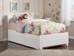 Orlando Platform Bed with Matching Footboard - White - AR81X6X12
