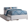 Orlando Platform Bed with Matching Footboard - White Orlando Platform Bed with Matching Footboard - White
