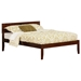 Orlando Platform Bed with Open Footrails - Antique Walnut - AR81X1004