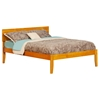 Orlando Platform Bed with Open Footrails - Caramel Latte - AR81X1007