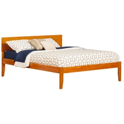 Orlando Platform Bed with Open Footrails - Caramel Latte Orlando Platform Bed with Open Footrails - Caramel Latte