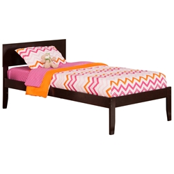 Orlando Platform Bed with Open Footrails - Espresso Orlando Platform Bed with Open Footrails - Espresso