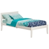 Orlando Platform Bed with Open Footrails - White Orlando Platform Bed with Open Footrails - EspressoWhite