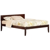 Orlando Traditional Bed with Open Footrails - Antique Walnut Orlando Traditional Bed with Open Footrails - Antique Walnut